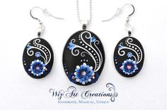 Handmade, Custom Polymer Clay Jewelry Set by WizArt Creations on Etsy: wizartcreations.etsy.com
