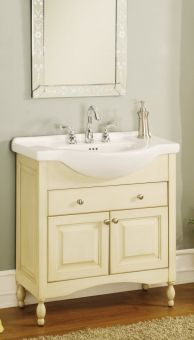 34 Inch Single Sink Narrow Depth Furniture Bathroom Vanity With Choice Of Finish And Sink Uveiw34