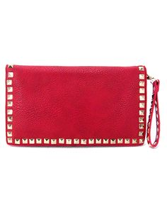 Inzi 6277 Red Studded Clutch Handbag