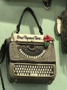 Typewriter beaded handbag