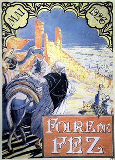 Vintage Fez poster - Maroc Désert Expérience tours http://www.marocdesertexperience.com
