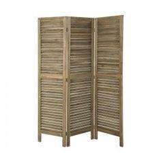 Paravent 4 volets en bois cérusé o prive meubles