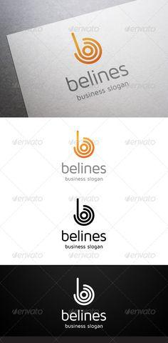 Belines B Letter - Logo Design Template Vector #logotype Download it here: http://graphicriver.net/item/belines-b-letter-logo/4737668?s_rank=439?ref=nexion