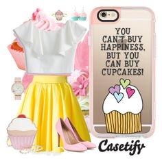 """CUPCAKEMANIA!"" by casetify ❤ liked on Polyvore featuring Casetify, Chicwish, Philipp Plein, Nila Anthony, Monsoon, Gianvito Rossi and Kate Spade"