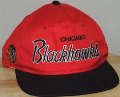 e5cc4e5bb14 Chicago Blackhawks Sports Specialties Script The Twill NHL Red Snapback Hat