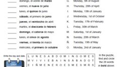 Spanish greetings matching #classroomiq #spanishworksheets