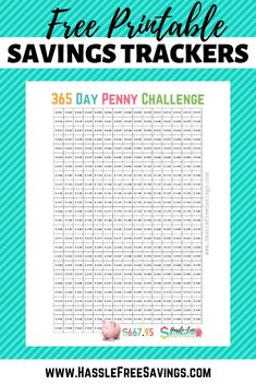 Penny Saving Challenge - 10 Different variations of the Penny Saving Challenge. Choose the money saving plan that fits your needs. Free printable PDF money saving charts to go along with each method! This is the reverse Penny Saving Challenge. Penny A Day Challenge, Savings Challenge, Money Saving Challenge, Saving Money, Money Savers, Investing Money, Savings Calculator, Savings Chart, Challenges