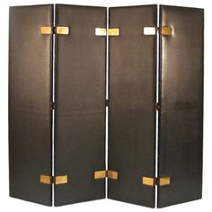 Leather Screen by Jacques Adnet   From a unique collection of antique and modern screens at https://www.1stdibs.com/furniture/more-furniture-collectibles/screens/