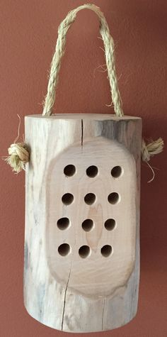 Bee Hotel for solitary pollinator bees by HudsonValleyCreators