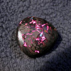 *QUEENSLAND, AUSTRALIA ~ BOULDER OPAL MATRIX GEM~   reserved for kaj rare Bright Metallic Pink and Red Colors Simply Stunning & Beautiful Australian Opal 9.65 Carats 15 x 14 x 7mm