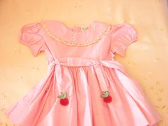 Sweet  Vintage Toddler Girl  Dress in Pink by vintagefinesandlinen, $25.00