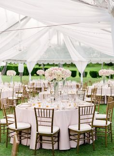 Light Beautiful Decor for an Outdoor Tented Wedding by Moana Events