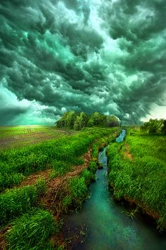 Spring storm ~ Wisconsin countryside by Phil Koch
