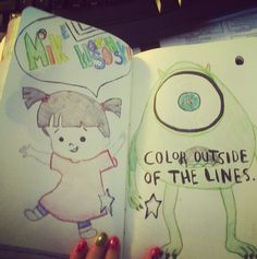 Wreck This Journal-color outside of the lines