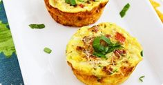 Mini Bacon Vegetable Frittatas | Cozi.com  Great for Father's Day :-)