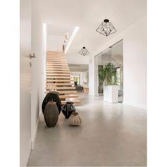 Flush Mount Chandelier, Modern Interior, Interior Design, Lanterns Decor, Decorative Lanterns, Semi Flush Lighting, Concrete Floors, Minimalist Home, Home Furniture