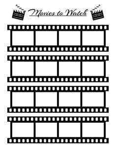 Bullet Journal Movies to Watch Planner Printable Movie Tracker Movie Log Film Log Printable Watch List Bujo Printable Planner Insert Journal Bullet Journal Mise En Page, Bullet Journal Inserts, Bullet Journal Printables, Bullet Journal Ideas Pages, Bullet Journal Inspo, Journal Pages, Journal List, Journals, Bullet Journal Movies To Watch