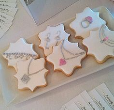 Jewelry cookies by Cookies by Alexis