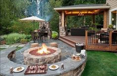 Backyard : Deck Plans Small Backyard Decks & Patios How To Decorate A Deck Or Patio With Flowers Decorating A Deck With Lights Small Backyard Deck Ideas Backyard Splash Pool' Backyard Patio Design Plans' Backyard Bbq Pit Plans and Backyards Outdoor Rooms, Outdoor Living, Outdoor Decor, Rustic Outdoor, Outdoor Ideas, Outdoor Patios, Outdoor Retreat, Outdoor Kitchens, Backyard Retreat