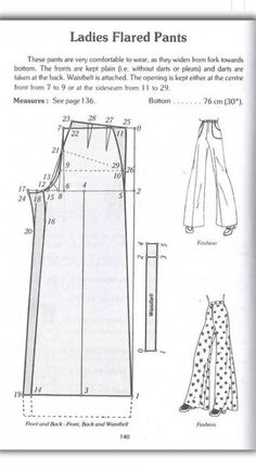 patterns pants patrones 28 Ideas Source by rosaeveliar idea sewingSewing patterns pants patrones 28 Ideas Source by rosaeveliar idea sewing from La tecnica dei modelli uomo donna 1 WIDE LEG PALAZZO PANTS PATTERN TUTORIAL Bag Patterns To Sew, Dress Sewing Patterns, Sewing Patterns Free, Clothing Patterns, Sewing Tutorials, Free Pattern, Beginners Sewing, Pattern Drafting Tutorials, Sewing Ideas