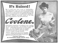 Coolene Antiperspirant 1904 Ad Picture