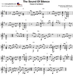 The Sound Of Silence - fingerstyle guitar sheet music