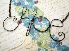 how to make a simple metal wire name necklace =) diy-jewellery