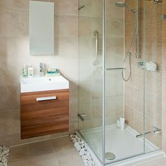 Wood effect tiled bathroom | Bathroom decorating | housetohome.co.uk