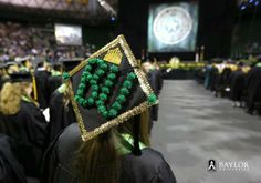 Crazy mortarboard at #Baylor University graduation, May 2013