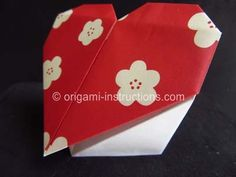Origami Heart Place Card Folding Instructions