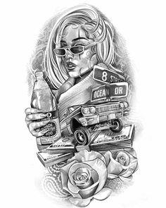Cholos Cholas Aztec Tattoo Graffiti Gangster Weed Cannabis … – Tattoo World Lowrider Tattoo, Tatouage Lowrider, Arte Lowrider, Cholo Tattoo, Chicano Tattoos Sleeve, Chicano Style Tattoo, Gangster Tattoos, Chicano Tattoos Gangsters, Art Chicano