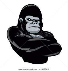 angry  gorilla icon.