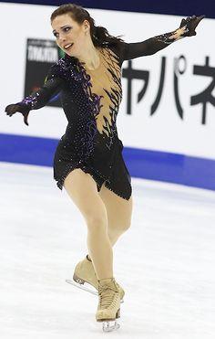 Alena Leonova -Black Figure Skating / Ice Skating dress inspiration for Sk8 Gr8 Designs.
