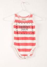Sleeveless Body Stripes & Orange juice