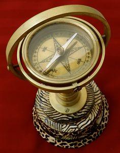 Vintage Compass_Brass Compass_Decorative by GoldenBeeAntiques