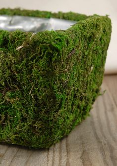 Creative Containers for your Flower Arrangements - Making moss covered pots