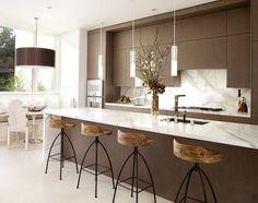 cuisine noire et bois en 40 idées de design d'intérieur ! | design ... - Chaises Hautes De Cuisine