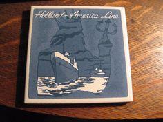 Holland America Blue Delft Coaster - Cruise Lines Line Ship Boat Poseidon Tile. I paid 10 cents.