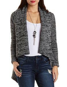 Marled Cascade Cardigan Sweater#charlotterusse #charlottelook