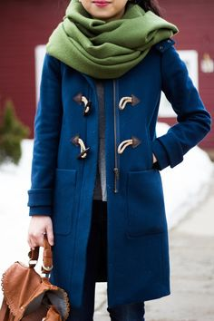Toggle Coat - love coat and color of coat and scarf mixed together