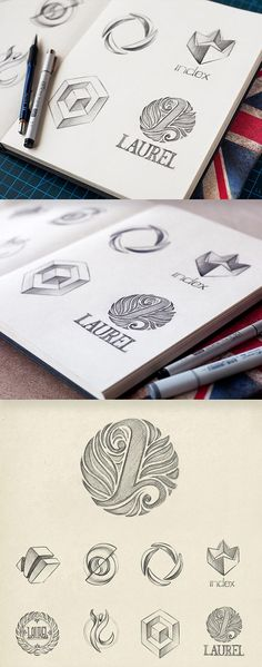 Intricately Detailed Logotype Sketch Collection by MIKE