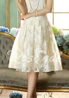 Floral Print Sweet Style Voile High Waist Women's Skirt Vintage Skirts | RoseGal.com Mobile