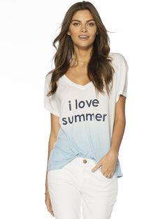 I Love Summer Love2Love Light V-Neck Tee