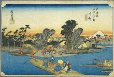 Hiroshige - The Fifty-three Stations of the Tokaido, 2nd station Kawasaki