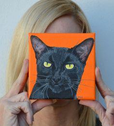 Cat Custom Painting. $65.00, via Etsy.