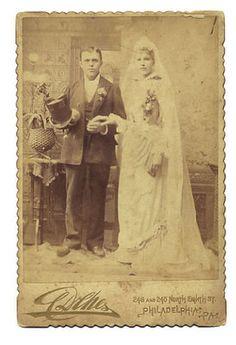 Philadelphia Cabinet Card Photo Bride Groom Marriage Wedding Philadelphia PA   eBay