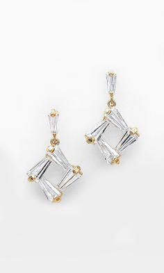 CZ Taylor Earrings in Gold//