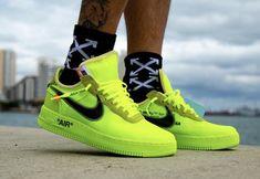 Nike Air Force 1 White Neon Yellow