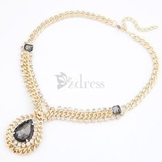 [USD $7.17] Modern Style Alloy Waterdrop Shaped Necklace For Women on Zdress.com