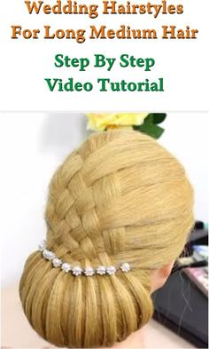Repin Or Like It - And I'll Like 5 Your Last Pins!!! Wedding Hairstyles For Long Hair Step By Step Video Tutorial in http://makeupnailartideas.blogspot.com/2015/02/wedding-hairstyles-for-long-hair.html